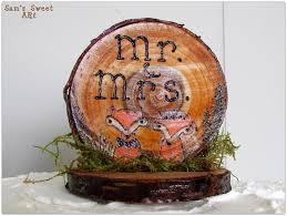 woodland wedding cake topper woodland wedding fox cake topper
