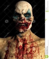 scary evil halloween clown isolated stock illustration image