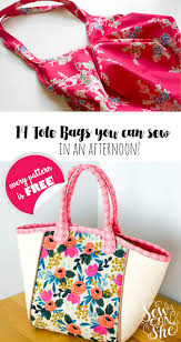 14 free tote bag patterns you can sew in a day plus tips to make