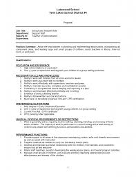 Special Education Resume Sample Resume For Teacher Assistant Free Resume Example And