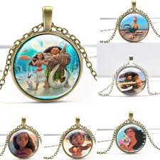 glass necklace pendants wholesale images Anime moana princess pendants glass necklace maui pua fagion jpg