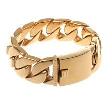 man titanium bracelet images China jewelry supplier gold color india design big titanium jpg