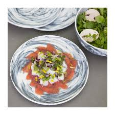 assiette de cuisine esbo assiette plate 24 5cm en porcelaine grise habitat