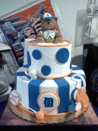 Baseball Baby Shower Cake - detroit tigers baby shower cake cakecentral com