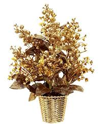 buy om home decor artificial flowers with pot best quality golden
