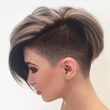 best hair styles for short neck and no chin 96 best women s undercuts shaved sides images on pinterest hair