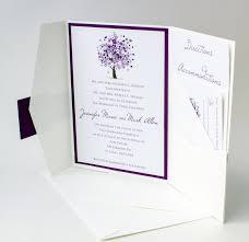 purple tree wedding invitation bellus designs