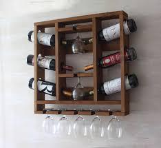wooden wine rack hanging wine glass rack rustic wine