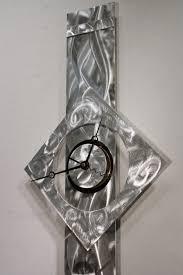 metal wall art sculpture clock modern abstract painting decor