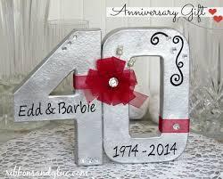 40 year anniversary gift 40 year wedding anniversary gift ideas navokal
