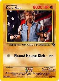 Chuck Norris Pokemon Memes - 21 funny fake pokemon cards smosh