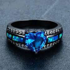 opal wedding ring fashionable blue heart opal wedding ring halzmalz