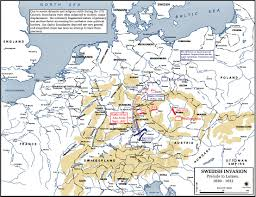 Holy Roman Empire Map Of The Thirty Years War 1630 1632