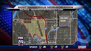 Chicago Tribune Crime Map by Two Indianapolis Neighborhoods Ranked Among Nation U0027s Most