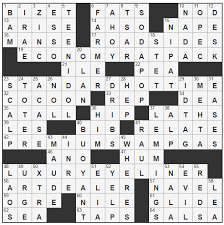 Opulence Crossword Clue L A Times Crossword Corner Friday May 12 2017 John Lampkin