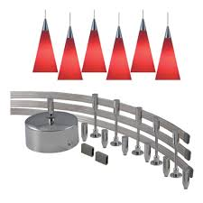 monorail pendant lighting kit jesco lighting 144 in low voltage 300 watt monorail kit with 6 red