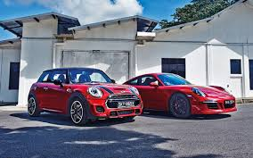 mini cooper porsche mini jcw and porsche 911 carrera gts torque
