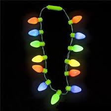 retro large c7 bulb necklace light up led lights