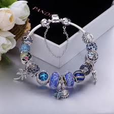 pandora bracelet charm bracelet images Authentic pandora deluxe blue theme 15 pcs charm bracelet JPG