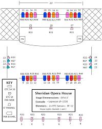 Comedy Barn Seating Chart Technical Info Sheridan Opera House