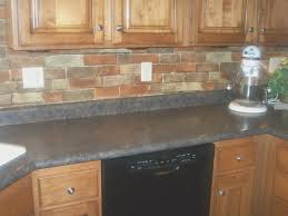 backsplash top faux brick kitchen backsplash wonderful