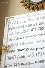diy oversized fall word art bliss