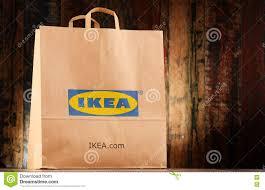 original ikea paper shopping bag editorial image image 80100540