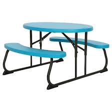 Lifetime Outdoor Furniture Oval Kids Picnic Table Blue Lifetime Target