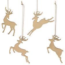 reindeer ornaments reindeer ornaments box of 24 primitive home decors