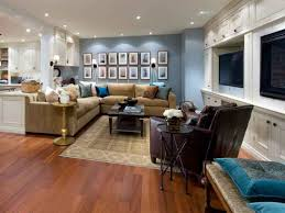 Blue Floor L Soft Blue Wall Color With Decorative Pictures For Amazing Basement