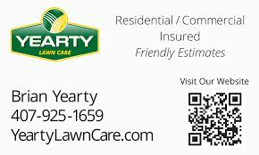 Lawncare Business Cards Yearty Lawn Care