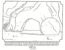 easter coloring resurrection sunday empty tomb gekimoe u2022 31150