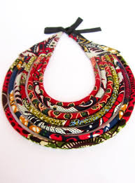 ethnic statement necklace images African tribal necklace black red statement necklace fabric jpg