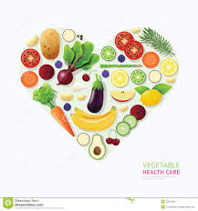 food templates free download infographic vegetable and fruit food health care heart shape stock royalty free vector