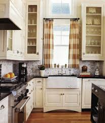 decorations white wall kitchen with clear glass window combined