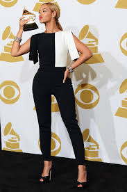 black and white jumpsuit beyonce 2013 grammy winner black and white jumpsuit stylefrizz