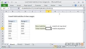 excel compare two tables find only matching data excel formula count total matches in two ranges exceljet
