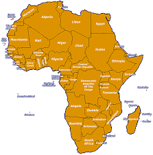 map of africa with country names live radio stations from africa broadcasting on the web