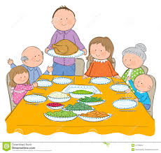 thanksgiving family dinner clipart clipartxtras