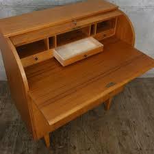 teak roll top desk mid century vintage swedish roll top bureau desk pedlars