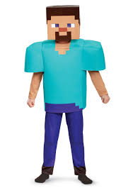 minecraft costumes minecraft steve deluxe costume for boys