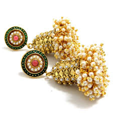 kerala style jhumka earrings shopzters 9 jhumka types that add sparkle to your wedding day