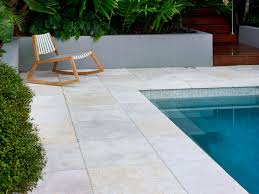 Backyard Nature Products Limestone Jericho Limestone Pavers Used As Pool Surround
