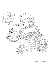 easter eggs and dot to dot game coloring pages hellokids com