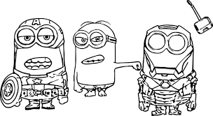 minion super heroes coloring page wecoloringpage