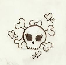 girly skull by priscilla717 on deviantart