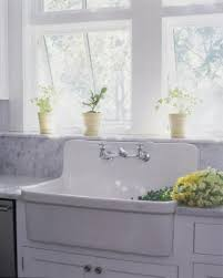 back to back sinks white high back sink with elegant cabinet for sunny farmhouse
