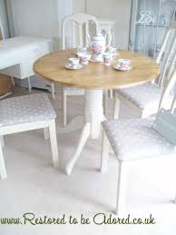 shabby chic dining table and chairs before and after u2013 restored