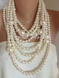 pearl necklace wholesale images Wholesale pearl jewelry bold chunky multi strand statement pearl jpg
