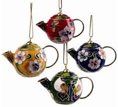 for my tree mini cloisonne teapot ornaments the